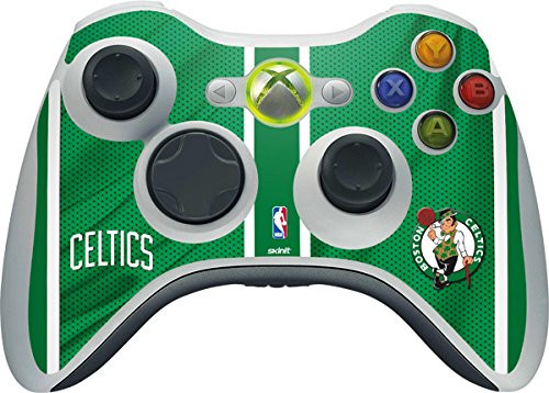 NBA Boston Celtics Xbox 360 Wireless Controller Skin - Boston Celtics Vinyl Decal Skin For Your Xbox 360 Wireless Controller by Skinit