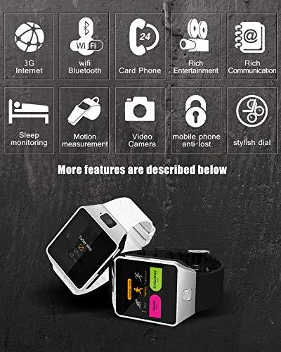FFHJHJ Reloj Inteligente Smart Watch Clock Android 4.4 1.2GHz ROM ...