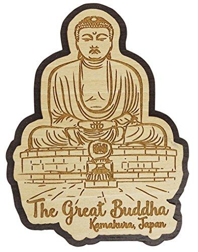 (Printtoo Souvenir Wooden The Great Buddha,Kamakura, Japan Engraved Fridge Magnet)