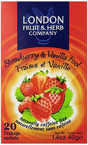 London Fruit & Herb Company Tea, Strawberry & Vanilla Fool, 20 Count