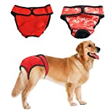 RYPET Premium Dog Diapers Female (Pack of 2) with Velcro Washable Reusable Sanitary Panties for Small to Large Dogs X-Large