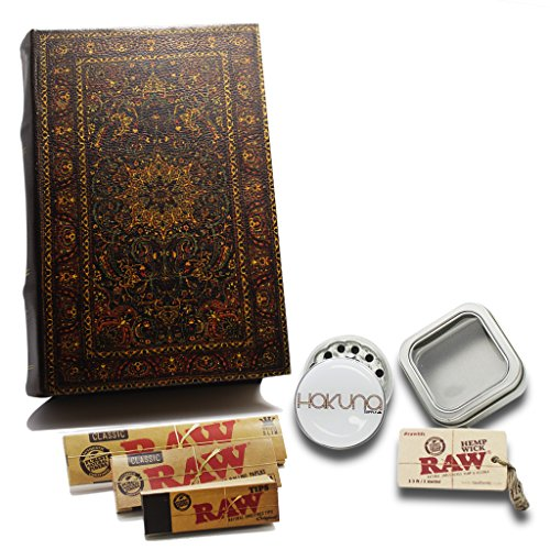 Ornate-Book-Stash-Box-Smoking-Accessories-Bundle-7-Pc-Bundle