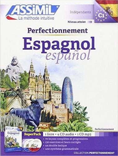Assimil Superpack Perfectionnement Espagnol (livre + 4 CD audio + 1CD MP3) [ advanced Spanish for French speakers ] (Spanish Edition)