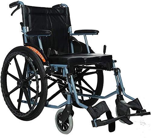 鋼管 マニュアル 車椅子、ポータブル 折ります ホーム 旅行 老人 無効 トイレ付き 車いす スクーター