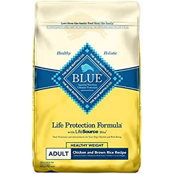 BLUE Life Protection Formula Adult Healthy Weight Chicken and Brown Rice  Dry Dog Food 30-lb