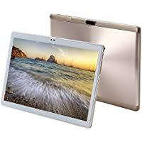 KuBi 10-Inch Android 7.0 Marshmallow MTK6753 Octa Core Tablet PC 4GB RAM 64GB internal Storage 1280x800 IPS HD Touch Screen Dual Camera Wi-Fi Bluetooth Golden