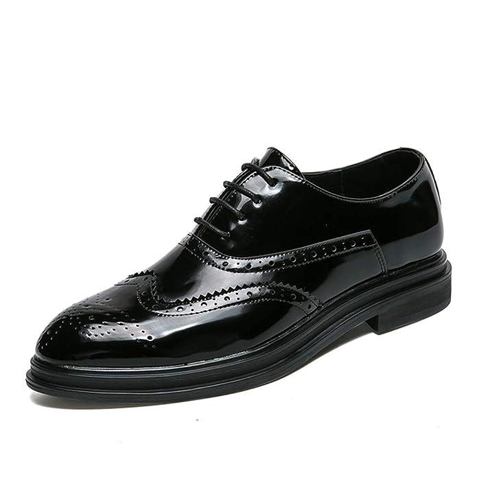 HILOTU Brogue Schuhe für Herren Bequeme weiche Sohle