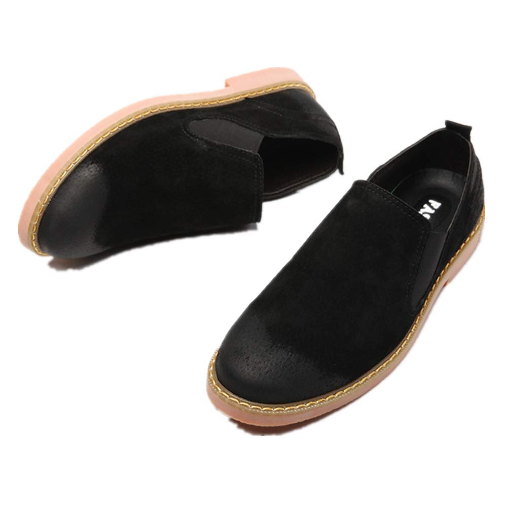 LYLIFE Mens Casual Suede Chelsea Slip on Ankle Boots