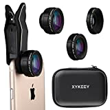 iPhone Lens Kit, Wide Angle Lens Fisheye Lens Macro Lens Cell Phone Camera Clip Lens Attachment Kit for iPhone 6 7 Plus Samsung Android Smartphones