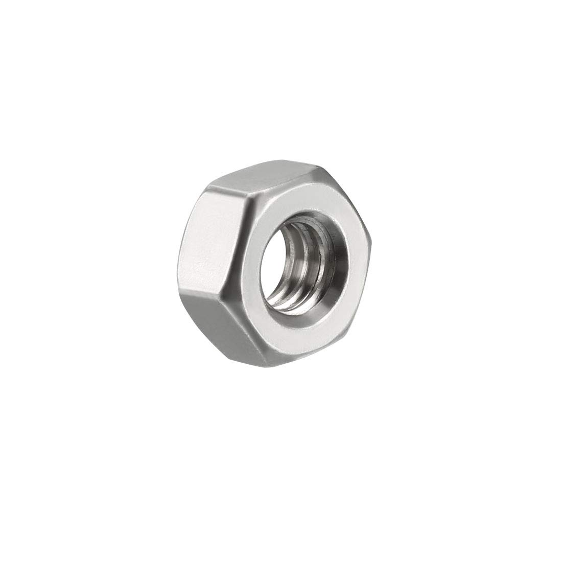 uxcell 8#-32 304 Stainless Steel Hexagon Hex Nut Silver Tone 100pcs