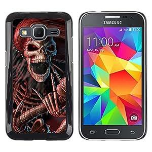 - Skull Devil Diablo - - Monedero pared Design Premium cuero del tir¨®n magn¨¦tico delgado del caso de la cubierta pata de ca FOR Samsung Galaxy Core Prime G360 G3608 G3606 Funny House