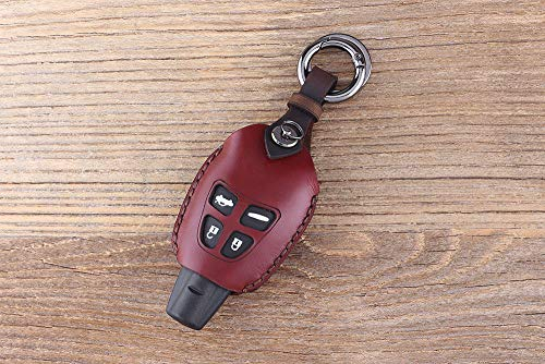 Hand Made 4 Button Keychain Genuine Leather Car Key for sale  Delivered anywhere in USA