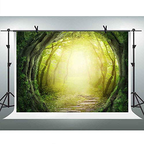 FHZON Dreamy Magical Jungle Forest Photography Backdrops 10x7ft