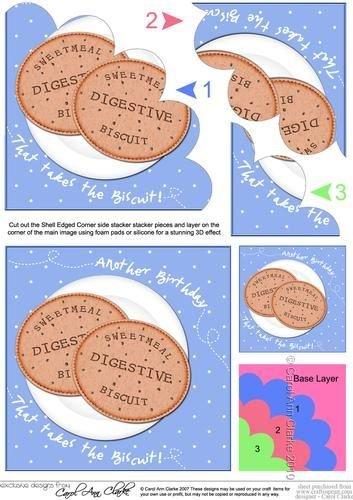 Sweet Digestivo para galletas cumpleaños carcasa con bordes ...