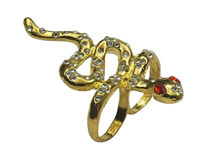 Amazon Desert Two Finger Snake Gothic Egyptian Cleopatra Ring