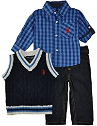 Baby Boys' Sport Shirt, Vest and Pant Set