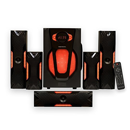 Theater Solutions by Goldwood 5.1 Speaker System 5.1-Channel Home Theater Speaker System, Black (TS523) by Theater Solutions