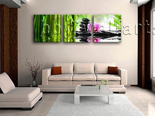 Large Relaxing Spa Feng Shui Floral Wall Art Modern 1 Panels Canvas Print, Large floral Wall Art, Bedroom, Sapphire by Bo Yi Wall Art (Image #1)