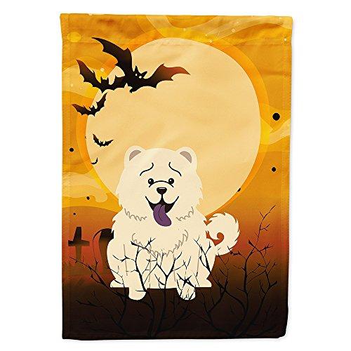 Caroline's Treasures BB4406GF Halloween Chow Chow White Garden Size Flag, Small, Multicolor ()
