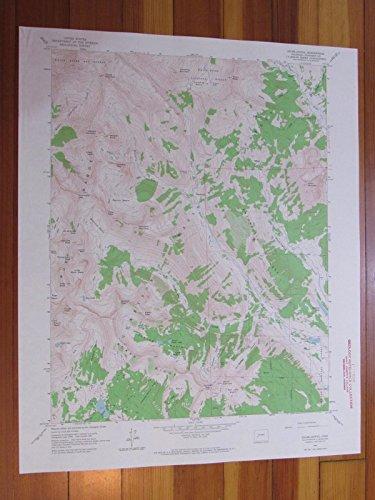 Oh-be-joyful Colorado 1964 Original Vintage USGS Topo Map ()