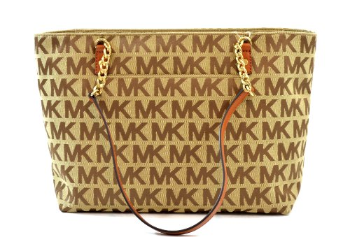 7913153cca47 ... greece amazon michael kors jet set chain item ew mk signature tote  purse shoulder bag jacquard