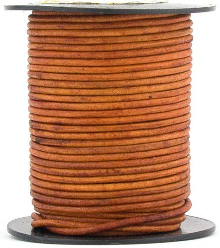 Brown Light Natural Dye Round Leather Cord 2mm 100 Meters(109 Yards) by RERA SHOP (Image #1)
