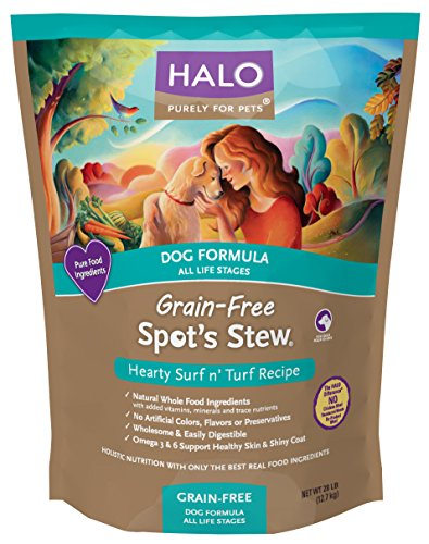 Halo Spot's Stew Holistic Grain Free Dog Food, Surf 'N Turf, 28 LB Bag of Natural Dog Food