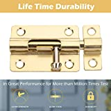 Door Security Slide Latch Lock Thickened Stainless