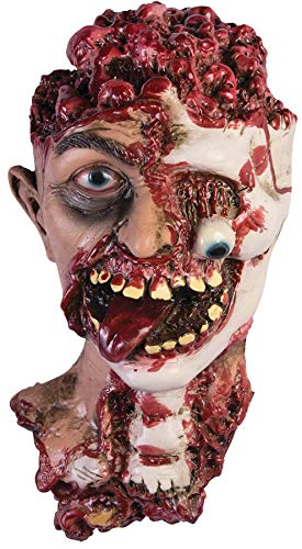 Forum Novelties Unisex-Adult's Rotted Zombie Head Prop, Multi, Standard