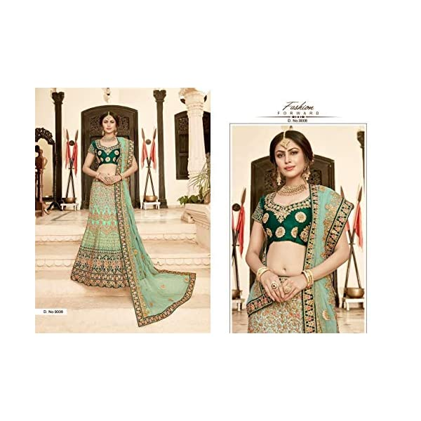 Pista Indian Traditional Designer Silk Lehenga Choli Net Dupatta Heavy Zari work Semi-stitch Bespoke Women dress 7836