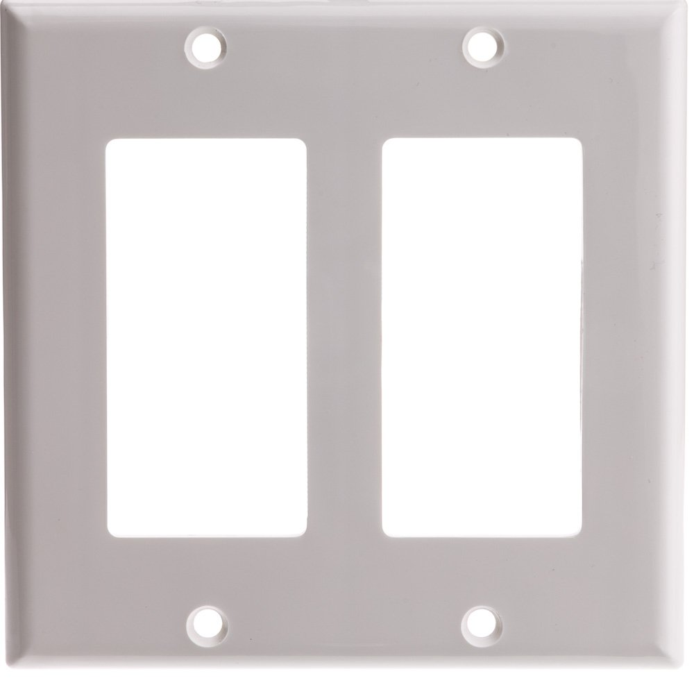 ACL Decora 2 Hole, Dual Gang Wall Plate, White, 100 Pack
