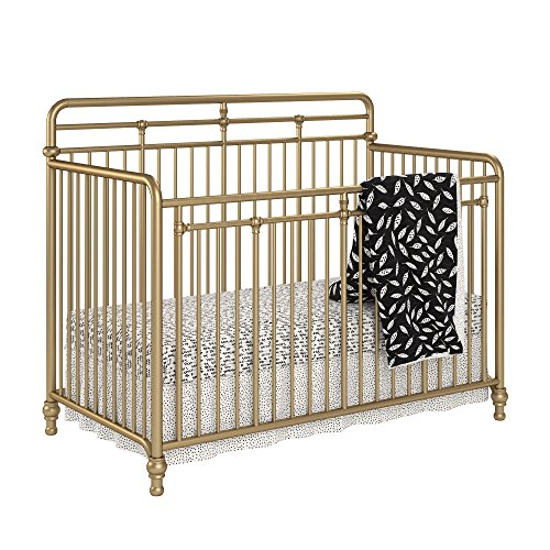 1 Iron Crib - Little Seeds Monarch Hill Hawken 3 in 1 Convertible Metal Crib, Gold