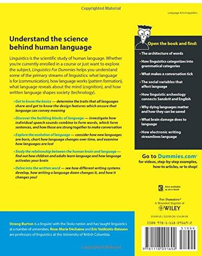 linguistics for dummies amazon co uk strang burton linguistics for dummies amazon co uk strang burton 9781118091692 books