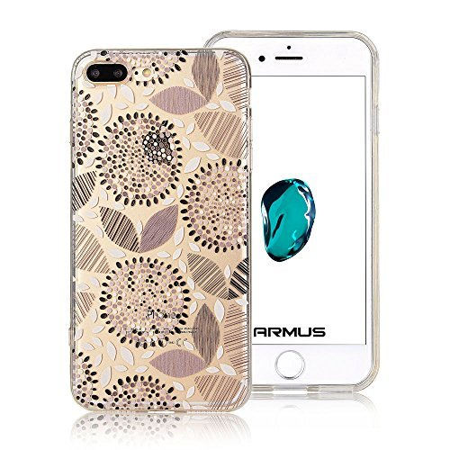 iPhone 7 Plus Case [Floral Pattern] ARMUS Premium Quality 3D (Marigold Pattern)