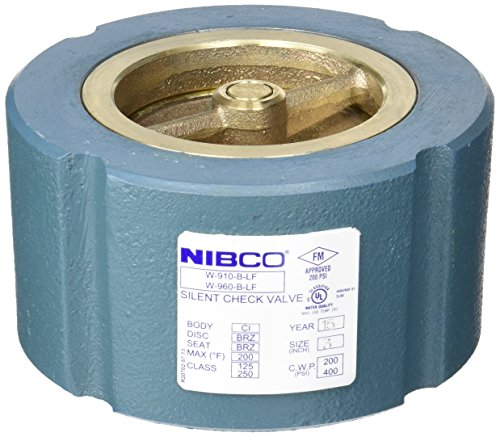 NIBCO  W910B-LF/W960B-LF Silent Wafer Check Valve   Lead-Free, Class 125, Iron Body, Bronze Seat and Disc, 3