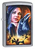 Zippo Lighter: Mazzi Lady with Birds - Street Chrome 78435