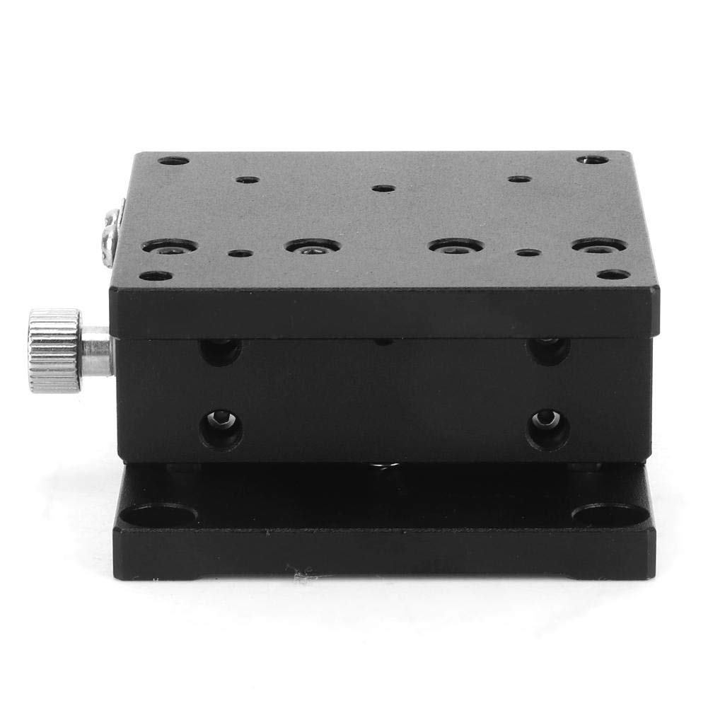 Manual Linear Stage 606030mm Durable Trimming Platform Slide Table Fine Tuning Bearing Vertical Linear Stage for Production Machinery Quantitative Movement