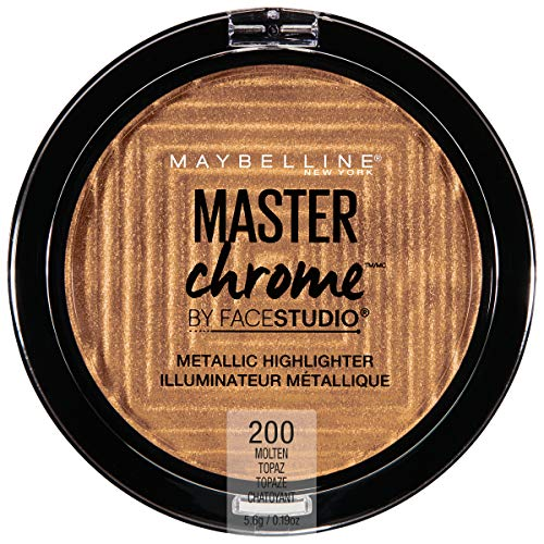 Maybelline New York Facestudio Master Chrome Metallic Highlighter Makeup, Molten Topaz, 0.19 oz.