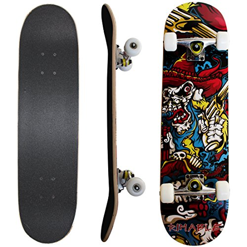 Rimable Complete Maple Skateboard 31 Inch (Demon