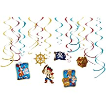 """Disney """"Jake and the Never Land Pirates"""" Value Pack Foil Swirl Decorations, Party Favor"""
