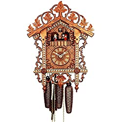 German Antique replica clock 8-day-movement 18.10 inch - Authentic black forest cuckoo clock by Rombach & Haas