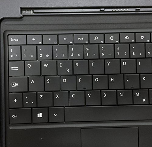 Microsoft Keyboard Layouts - Microsoft Type Cover Keyboard for Surface RT, Pro, RT 2, Pro 2 - Black (French Canadian Layout)