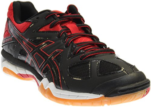 ASICS Women's Gel Tactic Volleyball Shoe, Black/Black/Fiery Red, 8.5 M US by ASICS