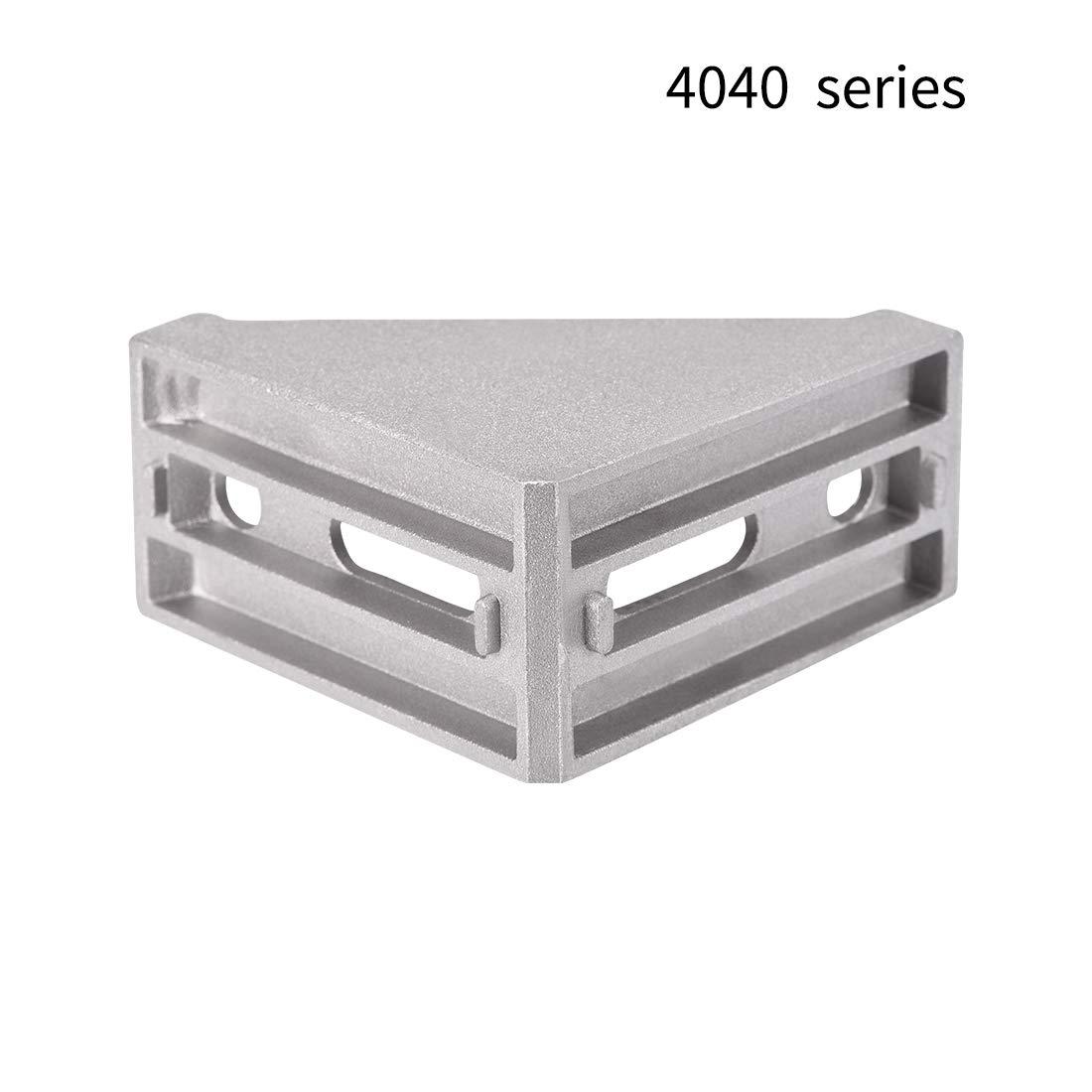 Soporte de esquina para perfil de extrusi/ón de aluminio Sourcingmap
