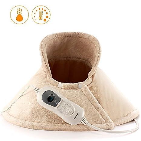 Hangsun Almohadilla Eléctrica Cuello/Hombros TP530 Manta Eléctrica Espalda con 3 Niveles Temperatura, Calentamiento Rápido, Sistema Protección Por ...