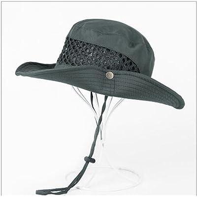 À L'extérieur Respirant Mesh Casquettes De Pêche pour Homme SUN UV Protection Séchage Rapide Seau Chapeau Bonnet Cap pour Randonnée Camping Voyager