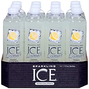Sparkling Ice Lemonade, 17 Ounce Bottles (Pack of 12)