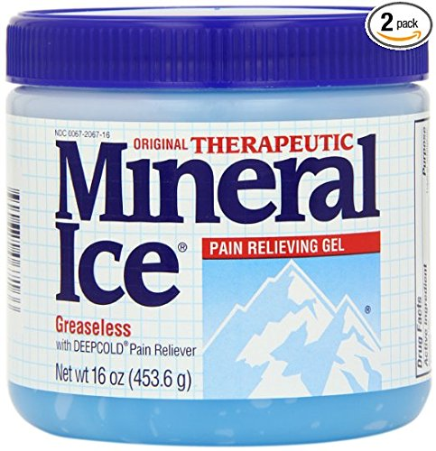 Mineral Ice Therapeutic Pain Relieving Gel  16 Ounce Jars  Pack Of 2