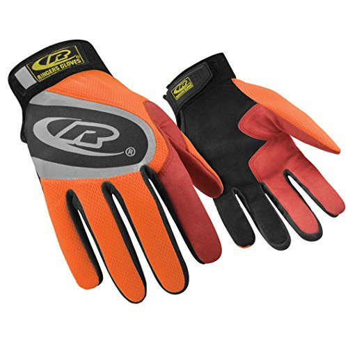 Ringers Gloves R-136 Turbo Plus Orange, Essential Hand Protection, Velcro Secure Cuff Closure, XX-Large