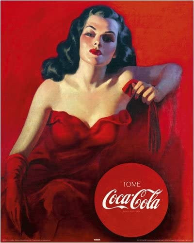 Coca-Cola Have a Coke Red Dress Lady Wall Decal